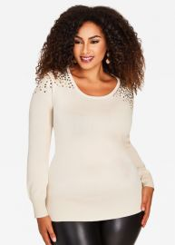 Sequin Sweater by Ashley Stewart at Ashley Stewart