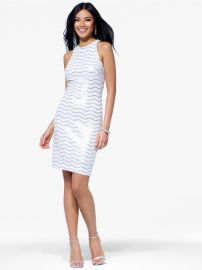 Sequin Zig Zag Dress at Cache