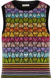 Sequin-embellished mohair-blend vest x at The Outnet