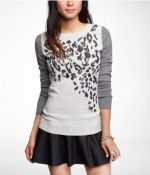 Sequin leopard sweater at Express