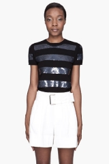 Sequin striped top by Marc by Marc Jacobs at SSENSE