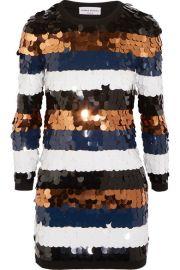 Sequined Wool-Jersey Mini Dress by Sonia Rykiel at Net A Porter