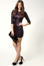 Sequinned dress at Boohoo at Boohoo