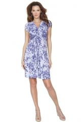 Seraphine Blossom Knot Front Maternity Dress at Amazon
