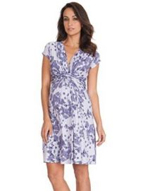 Seraphine Blossom Knot Front Maternity and Nursing Dress at Amazon