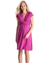 Seraphine Womenand39s Jolene Knot Front Maternity and Nursing Short Sleeve Dress at Amazon