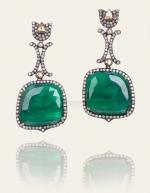 Serena's emerald earrings on Gossip Girl at Danielle Queller