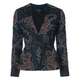 Serpent Jacquard Jacket by Yigal Azrouel at Farfetch