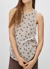 Sevres blouse in bone vagabond at Aritzia