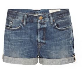 Shadow Kari Shorts in Dark Indigo at All Saints