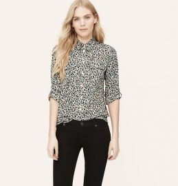 Shadow floral utility shirt at Loft