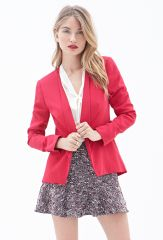 Shawl collar blazer at Forever 21