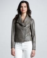 Shawl collar leather jacket by Vince at Neiman Marcus