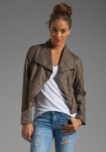 Shawl collar moto jacket by BB Dakota at Revolve