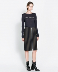 Sheath skirt with zips at Zara