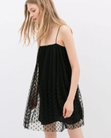 Sheer Overlay Dress at Zara