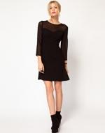 Sheer black dress at Asos