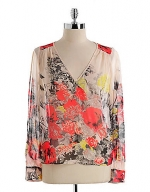 Sheer floral blouse at Lord & Taylor