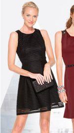 Sheer striped dress at Target