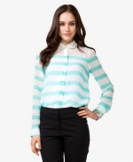 Sheer striped shirt at Forever 21 at Forever 21