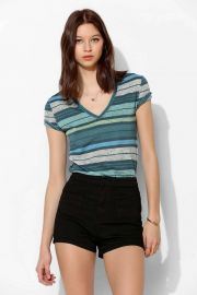 Sheer striped tee at Urban Outfitters