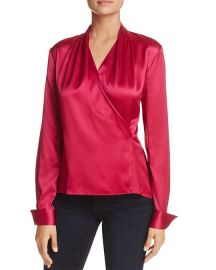 Shelly Faux-Wrap Silk Top by Elie Tahari at Bloomingdales