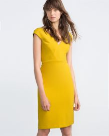 Shift Dress in Lime Green at Zara