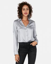 Shimmer Portofino Shirt at Express