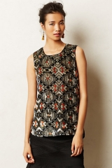 Shimmered Velvet Tank at Anthropologie
