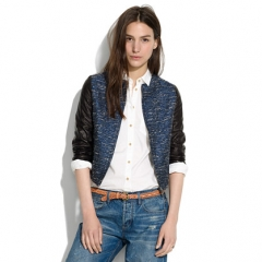 Shimmerweave Bomber at Madewell