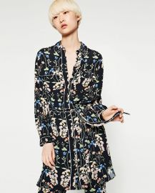 Shirt Style Printed Tunic at Zara