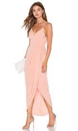 Shona Joy Cocktail Draped Dress in Dusty Pink from Revolve com at Revolve