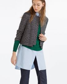 Short Check Blazer at Zara
