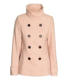 Short Coat in Powder Pink at H&M