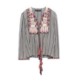Short Embroidered Jacket at Zara