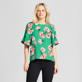 Short Exaggerated Sleeve Blouse by Target at Target