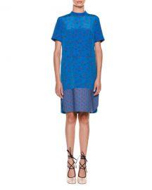 Short-Sleeve Floral-Print Dress by Marni at Bergdorf Goodman