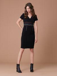 Short Sleeve V-Neck Tailored Dress Diane von Furstenberg at DvF
