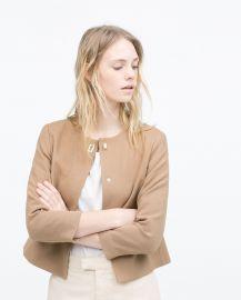 Short crepe jacket at Zara