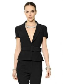 Short sleeve jacket by Alexander McQueen at Luisaviaroma