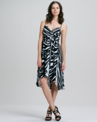 Shoshanna Alicia Spring Striped High-Low Maxi Dress at Neiman Marcus