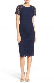 Shoshanna Beaux Lace Midi Dress at Nordstrom