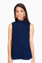 Shoshanna Navy Lucy Top at Tuckernuck