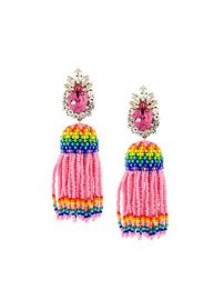 Shourouk   39 totem  39  Beaded Tassel Earrings - at Farfetch