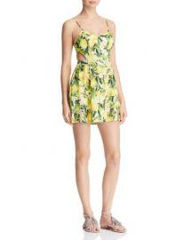 Show Me Your MuMu Piper Lemon Floral Print Cutout Dress at Bloomingdales