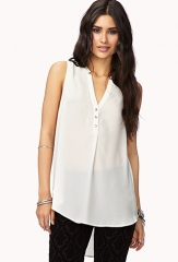 Show Off Chiffon Blouse  LOVE21 - 2058100011 at Forever 21