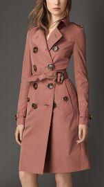 Showerproof Technical Trench Coat in Pale Redwood at Burberry