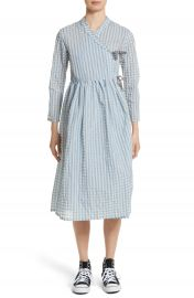 Shrimps Hermione Gingham Seersucker Dress at Nordstrom