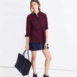Shrunken Ex-boyfriend Shirt in Gingham Check  at Madewell