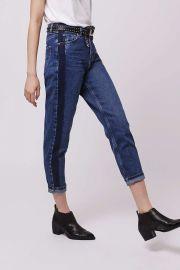 Side stripe mom jeans at Topshop